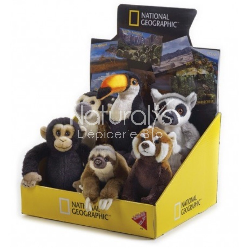 PELUCHE ANIMAL FORET TROPICAL