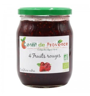 CONFITURE 4 FRUITS ROUGES - 370 GR