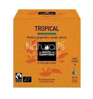 ROOIBOS TROPICAL GINGEMBRE ORANGE ABRICOT - 20 X 1.5 GR