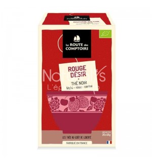THE NOIR ROUGE DESIR LITCHI ROSE CERISE - 20 X 1.5 GR