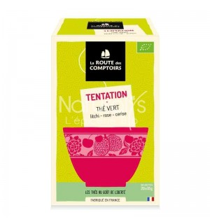 THE VERT TENTATION LITCHI ROSE CERISE - 20 X 1.5 GR