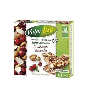 BARRE CEREALE AMANDES CRANBERRIES - 90 GR