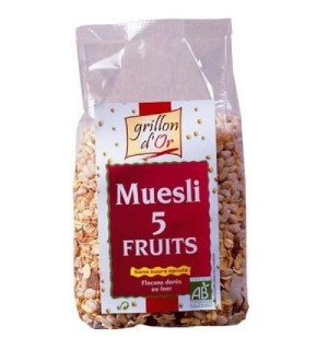 MUESLI FRUITS : ABRICOT RAISIN POMME COCO - 500 GR