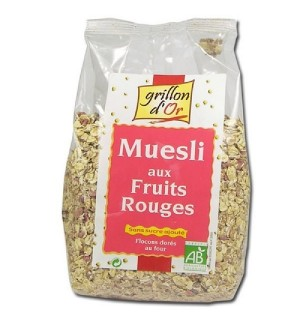 MUESLI AUX FRUITS ROUGES - 500 GR