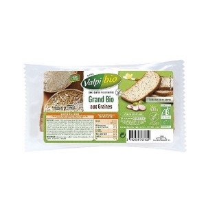 PAIN GRAND BIO AUX GRAINES - 400 GR