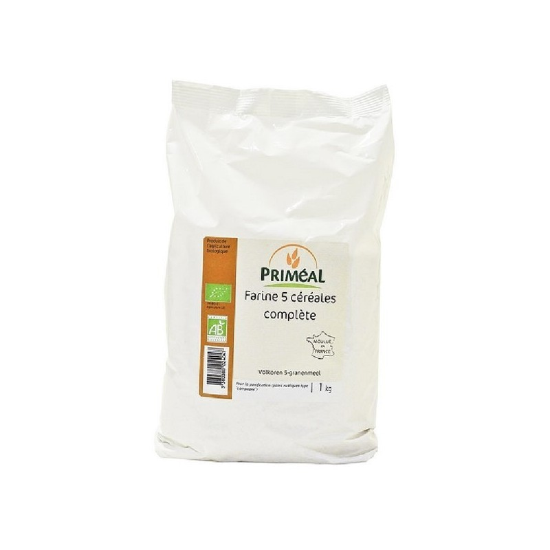 FARINE COMPLETE 5 CEREALES - 1 KG