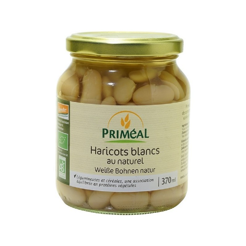 HARICOTS BLANCS AU NATUREL - 370 ML
