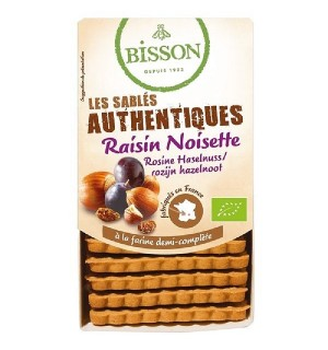 AUTHENTIQUES SABLES RAISIN NOISETTE - 175 GR