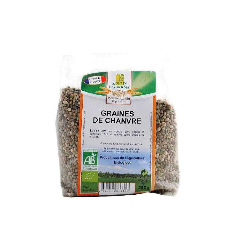 GRAINE DE CHANVRE - 250 GR