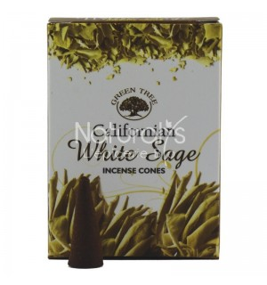 ENCENS GREEN TREE WHITE SAGE - 10 CONES