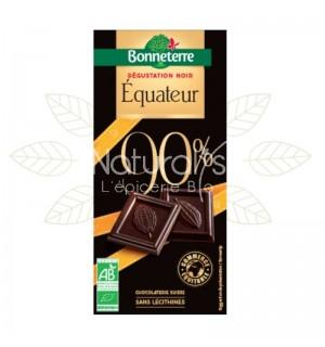 TABLETTE CHOCOLAT EQUATEUR 90 % CACAO - 80 GR
