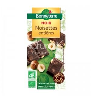 TABLETTE CHOCOLAT NOIR NOISETTE ENTIERE - 200 GR