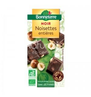 TABLETTE CHOCOLAT NOIR NOISETTES ENTIERES - 100 GR