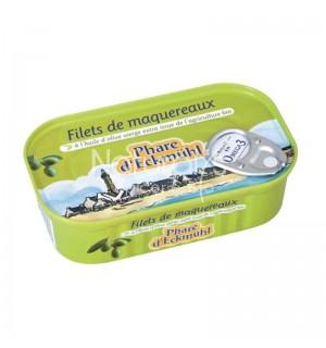 FILETS DE MAQUEREAUX A L'HUILE D'OLIVE - 118 GR