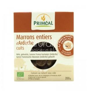 MARRONS ENTIERS D'ARDECHE CUITS (SOUS-VIDE) - 200 GR