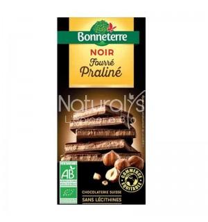 TABLETTE CHOCOLAT NOIR FOURRE PRALINE - 100 GR