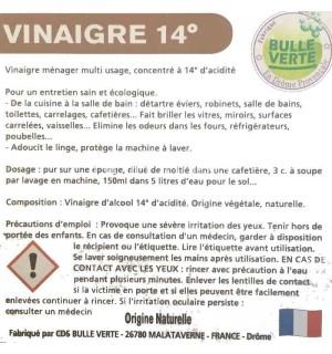 VINAIGRE BLANC 14 DEGRE NATUREL