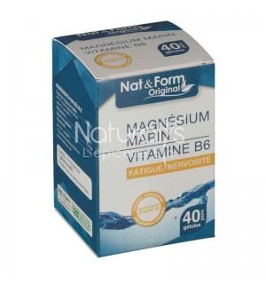 MAGNESIUM MARIN + VITAMINE B6 - 40 GELULES