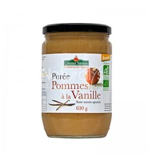 PUREE POMMES VANILLE SANS SUCRE AJOUTE - 630 GR