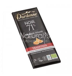 TABLETTE CHOCOLAT NOIR 71 % ORANGE DOUCE - 70 GR