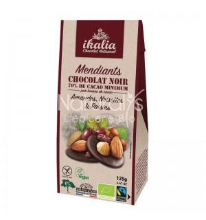 MENDIANT CHOCOLAT NOIR AMANDES NOISETTES RAISINS - 125 GR