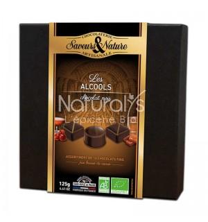 ASSORTIMENT CHOCOLAT NOIR ALCOOL - 125 GR