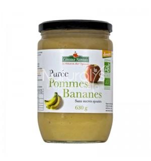 PUREE POMMES BANANES SANS SUCRE AJOUTE - 630 GR