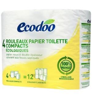 PAPIER TOILETTE COMPACT RECYCLE - 4 ROULEAUX