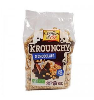 KROUNCHY 3 CHOCOLATS - 500 GR