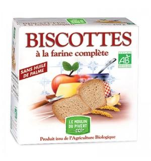 BISCOTTE A LA FARINE COMPLETE - 270 GR