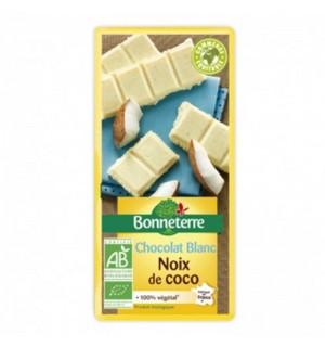 TABLETTE CHOCOLAT BLANC NOIX DE COCO - 100 GR