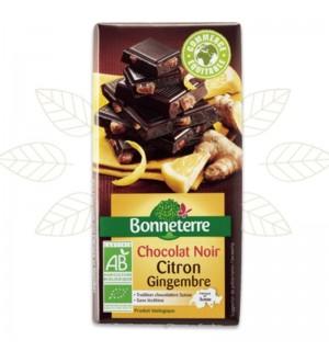TABLETTE CHOCOLAT NOIR CITRON GINGEMBRRE - 100 GR