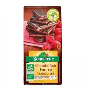 TABLETTE FOURRE FRAMBOISE CHOCOLAT NOIR - 100 GR