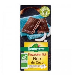 TABLETTE CHOCOLAT NOIR NOIX DE COCO - 85 GR