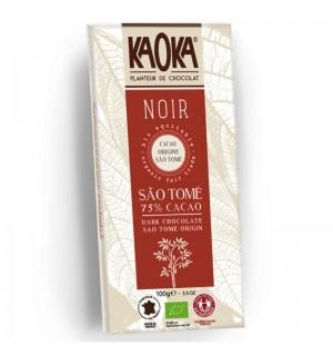 TABLETTE CHOCOLAT NOIR 75 % SAO TOME - 100 GR