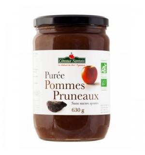 PUREE POMMES PRUNEAUX SANS SUCRE AJOUTE - 630 GR