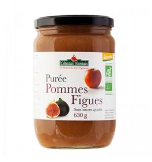 PUREE POMMES FIGUES SANS SUCRE AJOUTE - 630 GR