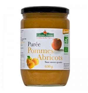 PUREE POMMES ABRICOTS SANS SUCRE AJOUTE - 630 GR