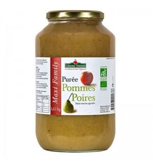 PUREE POMMES POIRES SANS SUCRE AJOUTE - 630 GR