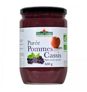 PUREE POMMES CASSIS SANS SUCRE AJOUTE- 630 GR