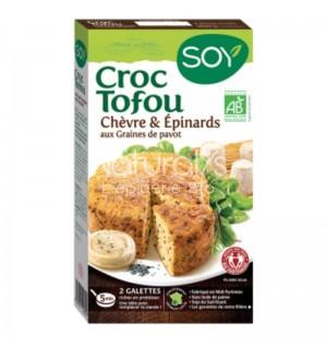 CROQUE TOFOU CHEVRE EPINARD GRAINE DE PAVOT- 2 X 100 GR