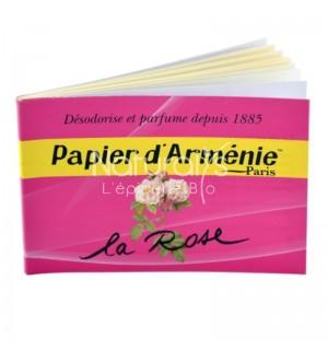 PAPIER D'ARMENIE A LA ROSE