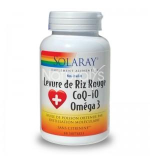 LEVURE DE RIZ ROUGE COQ-10 OMEGA 3  - 60 SOFTGELS